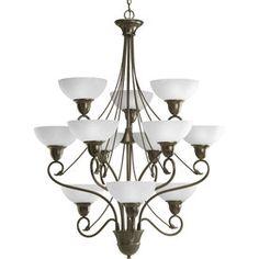 Progress Lighting�Pavilion 12-Light Antique Bronze Chandelier