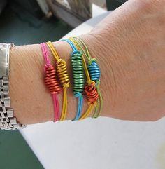 Was planning to make friendship bracelets for the kiddos, but this is cooler and faster.