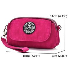 Women Nylon Clutches Bags Girls Mini Shoulder Bags Front Pocket Crossbody Bags is Worth Buying - NewChic
