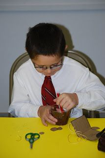 Luke 15: Three Parables; Parable of the Lost Coin Snack (Chocolate pudding cup with banana coin hidden in the pudding)