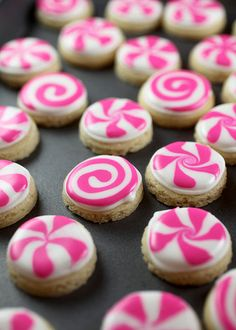 Peppermint Candy Sugar Cookies by Bakerella, via Flickr