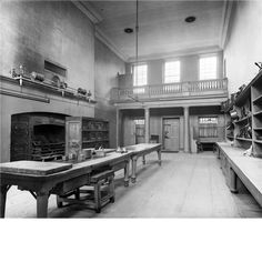 Kedleston Hall kitchen.