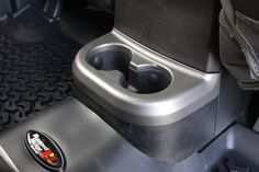 Cup Holder Trim, Brushed Silver, Row by Rugged Ridge Wrangler JK) 2018 Jeep Wrangler Unlimited, 2014 Jeep Wrangler, Jeep Jk, Camping Style, Camping Gear, Camping Packing, Silver Jeep, Rugged Ridge, First Time Driver