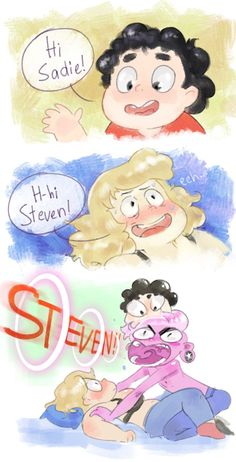 See more 'Steven Universe' images on Know Your Meme! Steven Universe Ships, Steven Universe Memes, Sadie And Lars, Lapidot, Universe Art, Save The Day, Anime, Geek Stuff, Fandoms