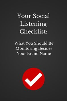 Your Social Listening Checklist: What You Should Be Monitoring Besides Your Brand Name - via @hootsuite http://blog.hootsuite.com/social-listening-checklist/