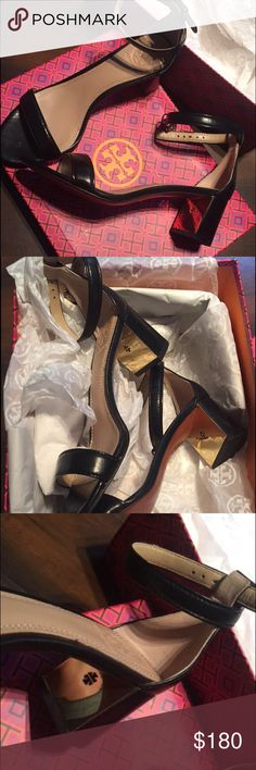 Tory Burch Cecile one strap block heel Cecile Tory Burch block heel. Simple and elegant and not available anywhere. They have never been worn was received as a gift! Open to REASONABLE offers Tory Burch Shoes Heels