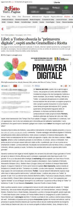 About Us: Il Fatto Quotidiano per il Salone del Libro. #SalTo12