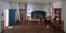 Thorne Miniature Rooms - Virginia - Williamsburg - Governor's Palace - Kitchen - 18th Century