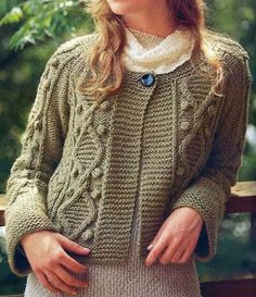 Free Knitting Patterns: Jacket with bobbles