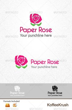 Paper Rose Logo — Vector EPS #apparels #salon • Available here → https://graphicriver.net/item/paper-rose-logo/3792402?ref=pxcr