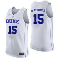 b75b4cecb Men Duke Blue Devils #15 Alex O'Connell College Basketball Jerseys Sale- White