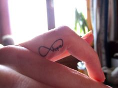 finger tattoo, but maybe a different word..