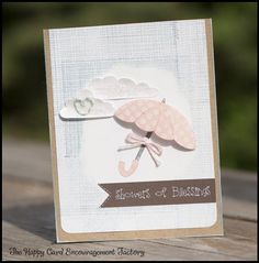 Showers of Blessings card with Trendy Twine