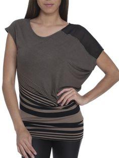 Arden B. Women's Variegated Stripe Asymmetrical Top - http://www.styledetails.com/arden-b-womens-variegated-stripe-asymmetrical-top - http://ecx.images-amazon.com/images/I/41L8hyd1brL.jpg