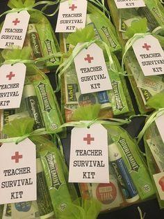 Teacher Emergency Kit, Survival Kit For Teachers, Back To School Emergency Kit, Survival Kit Gifts, School Survival Kits, Employee Appreciation Gifts, Teacher Appreciation Week, Small Teacher Gifts, Fall Gift Baskets