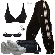 Cute Comfy Outfits, Sporty Outfits, Retro Outfits, Simple Outfits, Stylish Outfits, Cool Outfits, Look Fashion, Fashion Outfits, Sporty Fashion