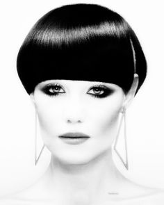 Hair: Akin Konizi @ HOB Salons Photography: Jenny Hands Make-up: Mary Jane Frost Stylist: Kate Ruth Short Wedge Hairstyles, Short Hair Styles, Popular Hairstyles, Cool Hairstyles, Blonde Color, Hair Color, Thick Bangs, Fitness Tattoos, Bowl Cut