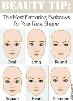 Eyebrow shape to compliment your face shape!