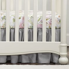 Our baby girl blush watercolor crib bedding collection pairs so nicely with your pink, white, or pastel nursery theme. Modern Nursery Decor, Nursery Wall Decor, Nursery Design, Nursery Themes, Crib Sheets, Crib Bedding, Crib Rail Cover, Pastel Nursery, Baby Bedroom