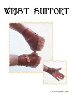 Looking for your next project? You're going to love Wrist Support leathercraft pattern by designer LeatherPatterns.