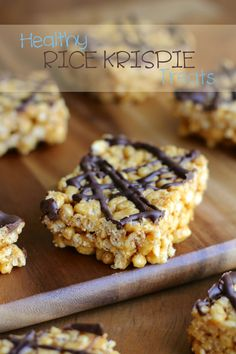 Made without marshmallows or butter, these healthy Rice Krispie treats are a great way to enjoy a childhood favourite.