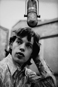 Mick at RCA Studios, Los Angeles, 1965