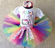 Girls+HBB+Hello+Kitty+Birthday+Rainbow+Polka+Dot+Tutu+Set