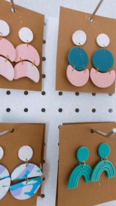 Cute Polymer Clay, Cute Clay, Polymer Clay Beads, Polymer Clay Crafts, Polymer Clay Creations, Fimo Ring, Diy Trend, Diy Clay Earrings, Clay Design