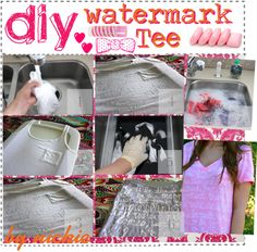 """""""DIY watermark tee"""" by the-amazing-tip-chickas on Polyvore"""