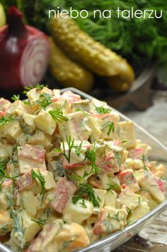 Sałatki na sylwestra - niebo na talerzu Seafood Recipes, Cooking Recipes, Healthy Recipes, Füllende Snacks, Seafood Salad, Vegetable Salad, Food Design, Food Inspiration, Great Recipes