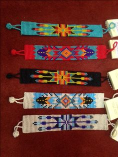 Seed Bead Patterns, Peyote Patterns, Bracelet Patterns, Beading Patterns, Indian Beadwork, Native Beadwork, Native American Beadwork, Bead Crafts, Jewelry Crafts