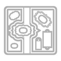 Sizzix.com - Sizzix Framelits Die Set 11PK - Card, Fancy Frame Flip-its #2