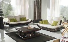 Sofas de bambu TAO. Decoracion Beltran, tu tienda en internet de muebles de estilos orientales y etnicos. www.decoracionbeltran.com