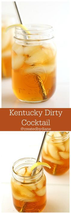 Kentucky Dirty Cocktail the PERFECT drink! 2 oz bourbon 1 oz peach schnapps oz if you like a stronger peach flavor and a little sweeter) 4 oz unsweetened tea (sweet tea if you prefer it sweet) Whiskey Cocktails, Cocktail Drinks, Cocktail Recipes, Cocktail Desserts, Fall Cocktails, Fancy Drinks, Craft Cocktails, Bourbon Drinks, Bar Drinks