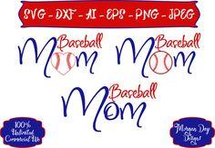 Baseball Mom SVG - Personalized Baseball SVG - Baseball SVG - Sports svg - Sports Mom svg - Files for Silhouette Studio/Cricut Design Space by MorganDayDesigns on Etsy