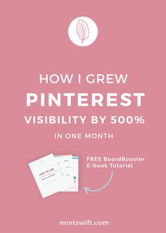 Pinterest is probably the best way for traffic to your blog. Want to know how I increased my traffic with Pinterest? I'd love to share my exact steps which helped me grow my visibility by 500% in just one month, using Pinterest with minimum effort because