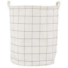 Squares tvättkorg från House Doctor. En fin förvaringspåse med rutmönster. Tvättkorgen kan man ha ti...