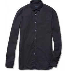 Lanvin Slim-Fit Grosgrain-Collar Cotton Shirt | MR PORTER