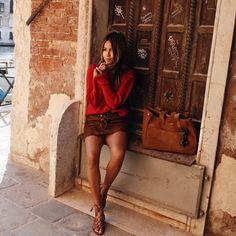 """JULIE SARIÑANA on Instagram: """"Cozy in little corners in Venice wearing head to toe @sezane ❤️"""""""