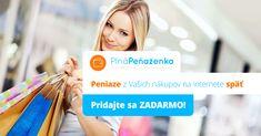 PlnáPeňaženka.sk umožňuje vyplácať peniaze späť za nákupy v najväčších e-shopoch ako Hej.sk, Tchibo.sk a ďalších. Registrácia je bezplatná a ako vstupný bonus získate 2 €!