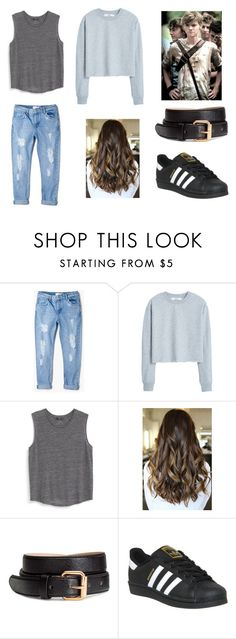 """""""TMR #1"""" by jolien-pollet ❤ liked on Polyvore featuring MANGO, H&M, Paul Brodie and adidas"""