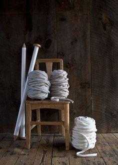 Extreme knitting. Big Little Dandelion Blanket by Purl Soho
