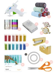 STOCKING STUFFERS FOR THE CRAFTER AT HEART Pom Pom Maker, Pre Christmas, Christmas Delivery, Garden Projects, Washi Tape, Stocking Stuffers, Gift Guide, My Favorite Things, Birthday Gifts