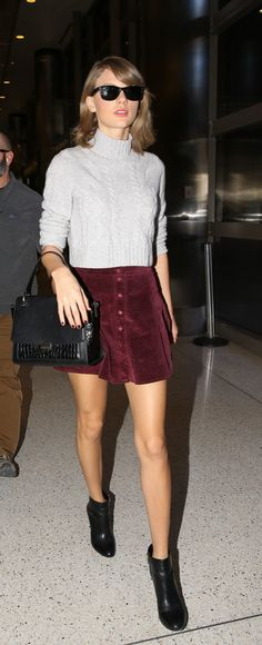 Taylor Swift stepped out in a totally chic Fall outfit