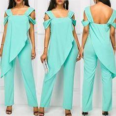 #jumpsuitsimple Cold Shoulder Dress, Jumpsuit, Womens Fashion, Instagram, Dresses, Style, Clothing, Overalls, Vestidos
