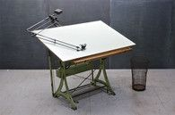 Nestler Vintage Iron Drafting Table : 20th Century Vintage Industrial Modern50 Style - Modern50