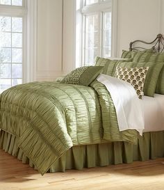 Sage:Studio D Serenade Comforter I can't believe I finally found a comforter set in green!! Very hard to find bedding in green for some reason!