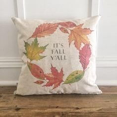 It's Fall Y'all Pillow Cover by SoVintageChic on Etsy
