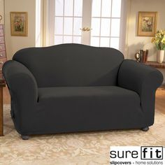 sure fit stretch jacquard damask two piece t cushion loveseat slipcover gray grey loveseat slipcovers damasks and free delivery
