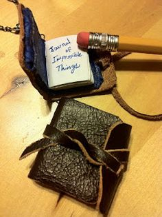 Miniature book pendant.  Doctor Who's Journal of Impossible Things. #DIY